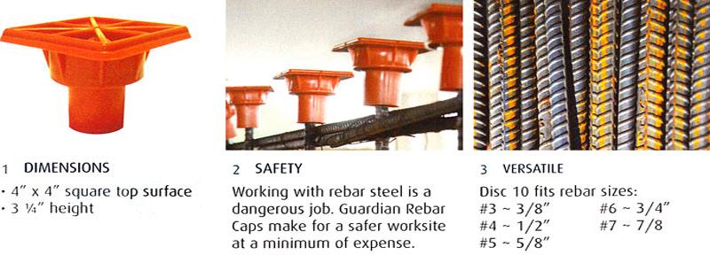 Plastic Safety Rebar End Cap For Steel Bar