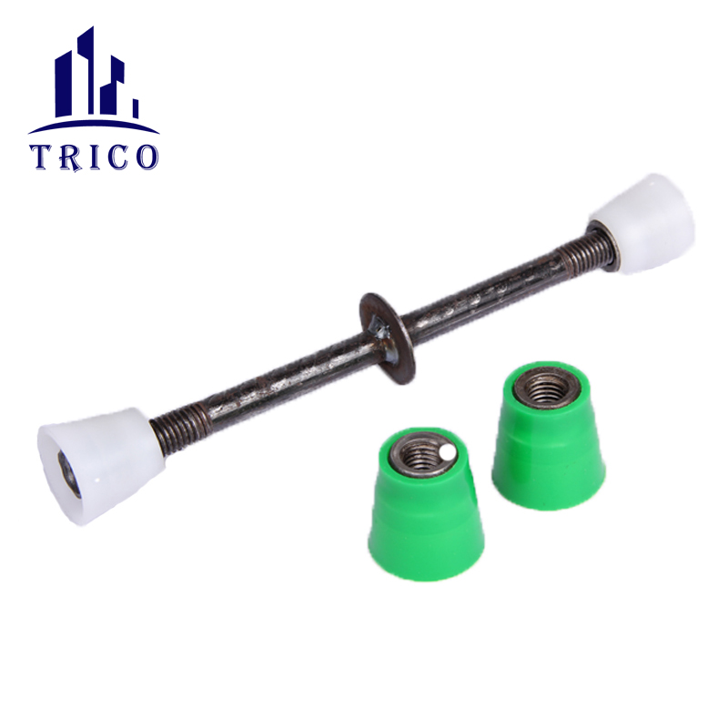 Full thread bar plastic d cone nut for wall concrete reinforcement