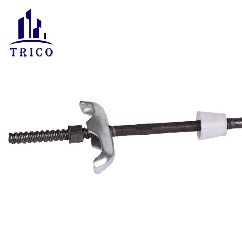 wall reinforcement tie bar system for construction