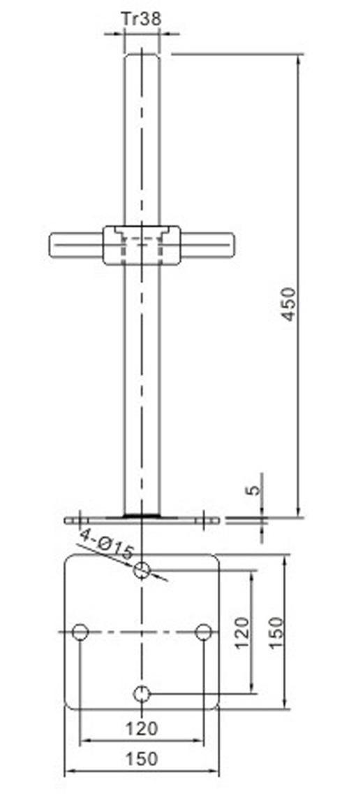Scaffolding Adjustable Shoring Screw Base Jack