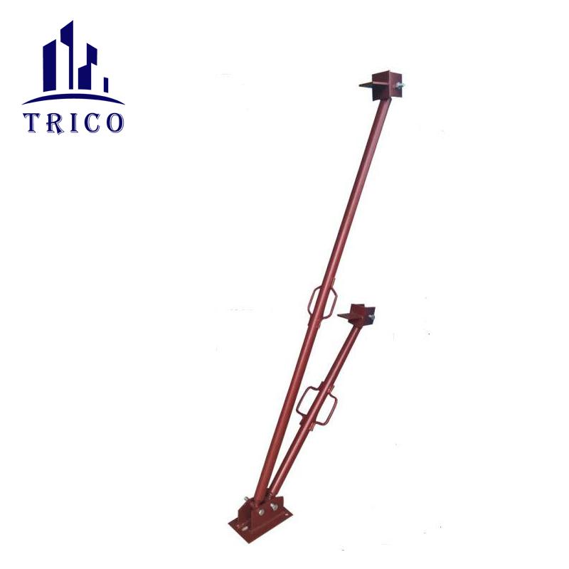 Construction scaffolding steel tilt panel prop