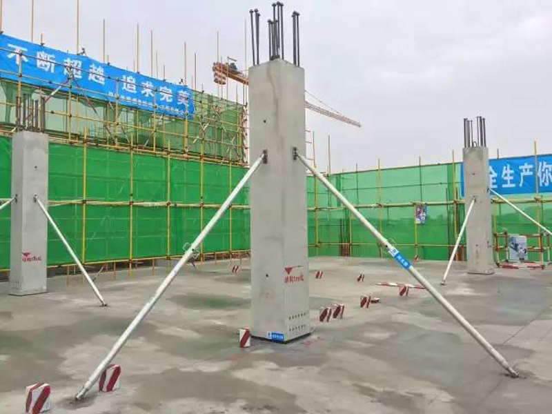 Construction scaffolding steel tilt panel prop