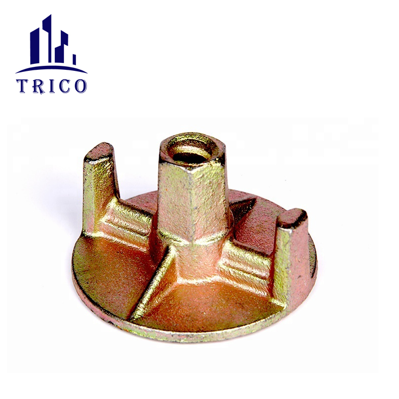 15/17mm concrete formwork galvanized casing iron tie nut anchor nut