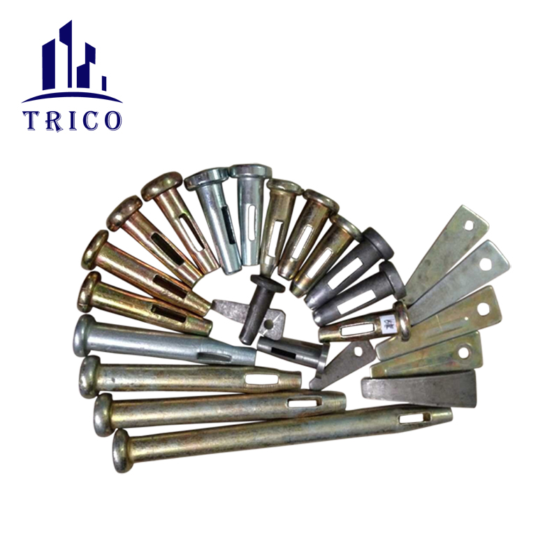 Aluminium concrete forms round flat head wedge pins