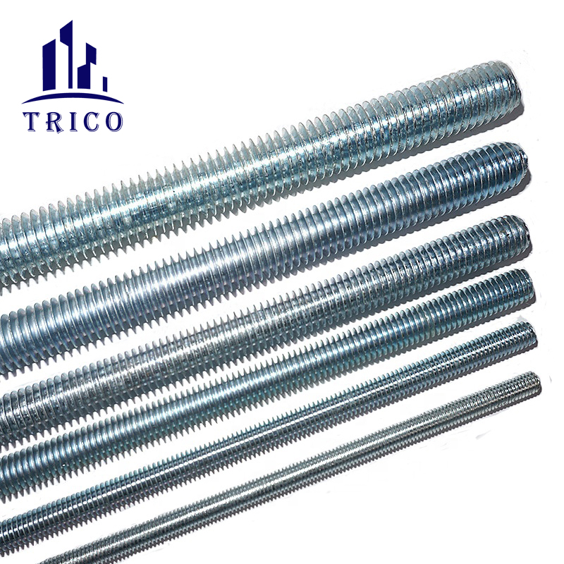 wall reinforcement Galvanized thread bar thread rod M12/M16/M20