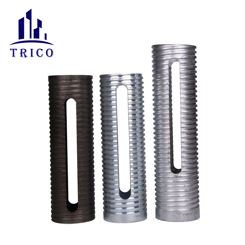 Building material adjustable steel prop accessories with sleeve nut