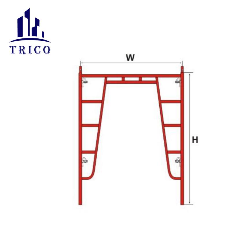 Construction scaffolding A Frame H Frame