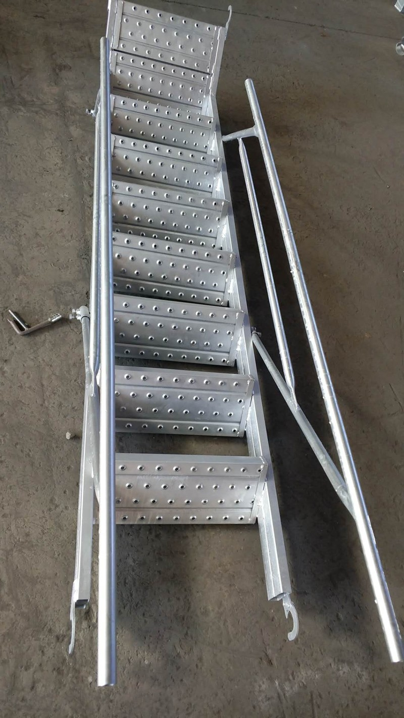 Construction Scaffolding System Galvanized Steel Ladder