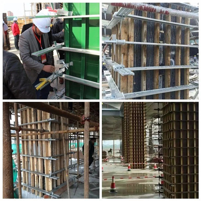 Construction Using Adjustable Column Formwork Clamp
