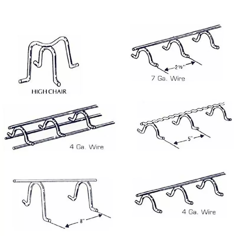 Building Material Slab Bolster Chairs-Concrete Rebar Chairs