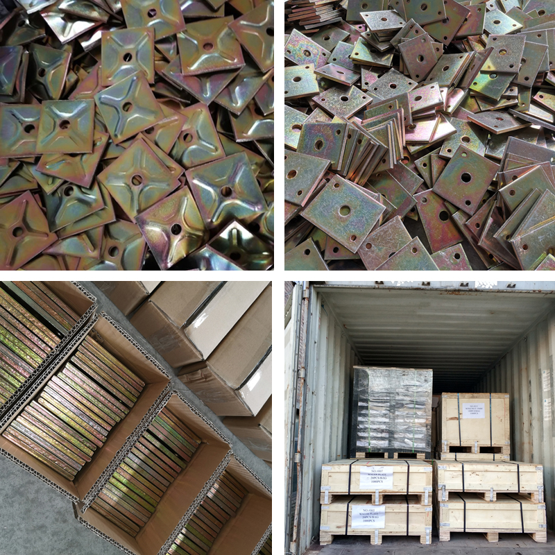 Construction Formwork Accessory Pressed Square Waler Plate Washer Plate