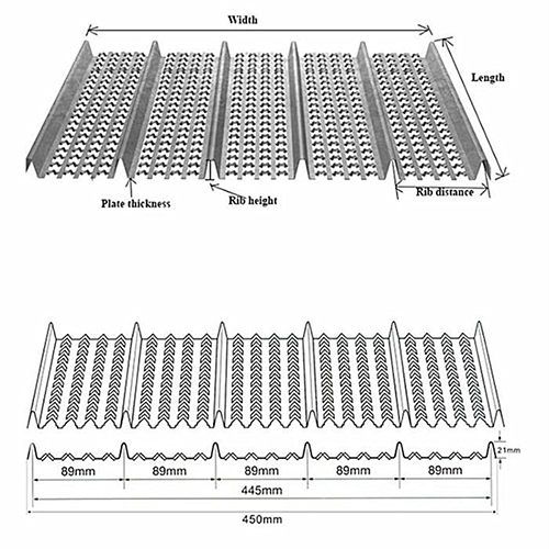 Construction Permanent Steel Mesh Hy-Ribbed Formwork sheet