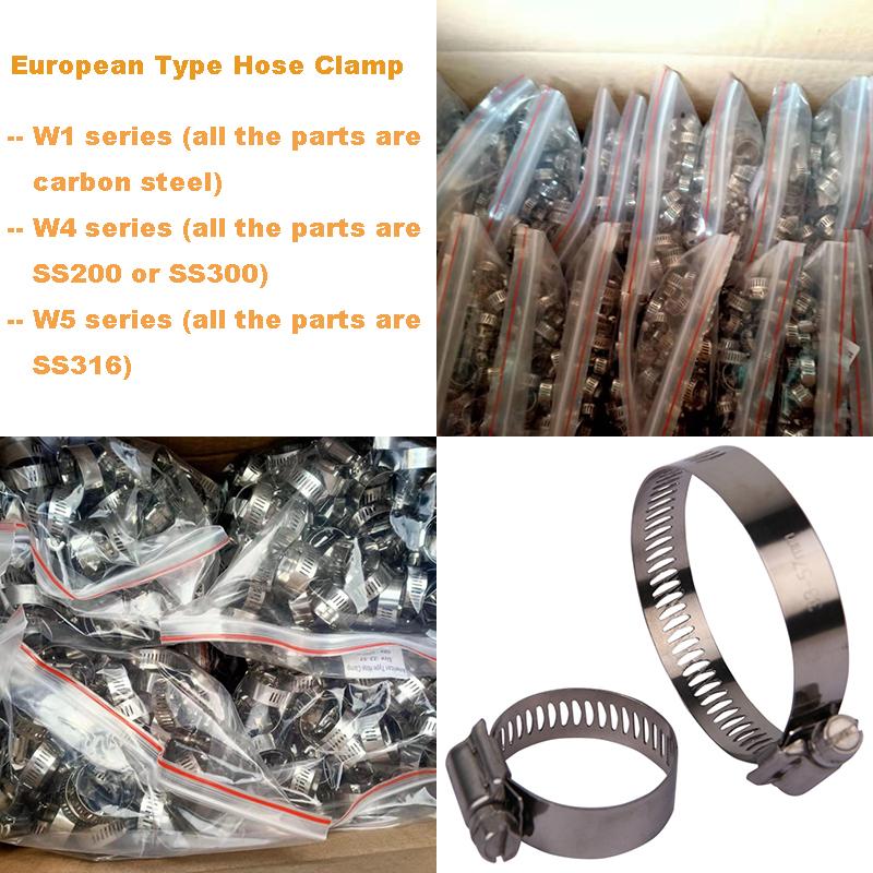 Exhaust Automotive European Types Hose Clamps