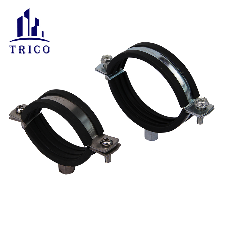Heavy Duty Rubber Lined Two Screws Pipe Clamp
