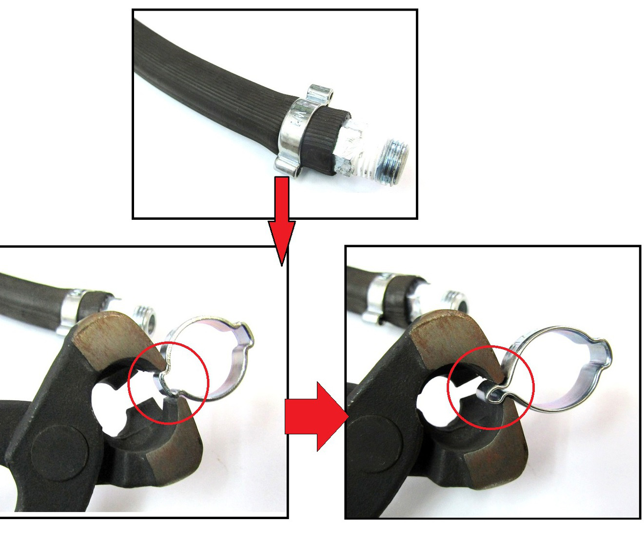 Double Ear Galvanized Hose Clamps for Gas Pipe Fastening