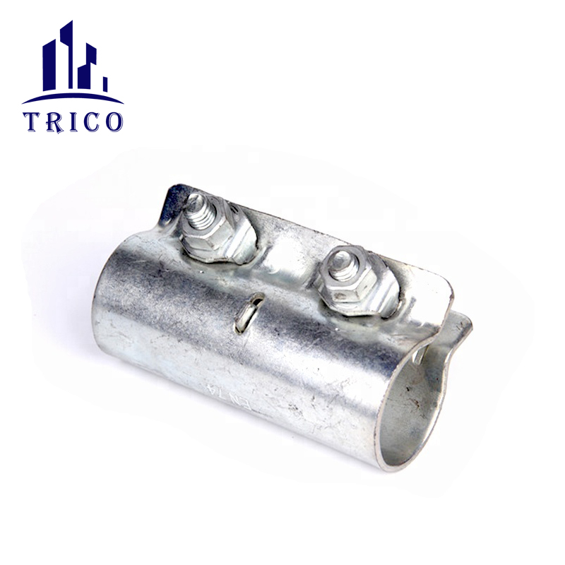 Pressed sleeve scaffolding coupler