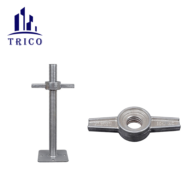 Aluminum formwork casting jack nut for adjustable screw base jack