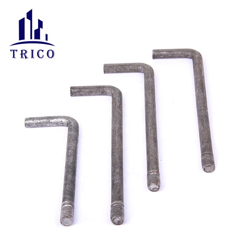 Concrete Tools L Shaped Anchor Bolt for Construction Formwork