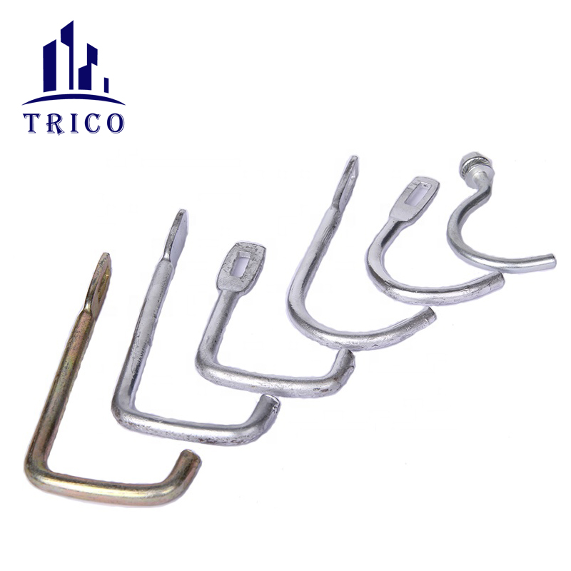Construction concrete formwork hardware galvanized steel L hook