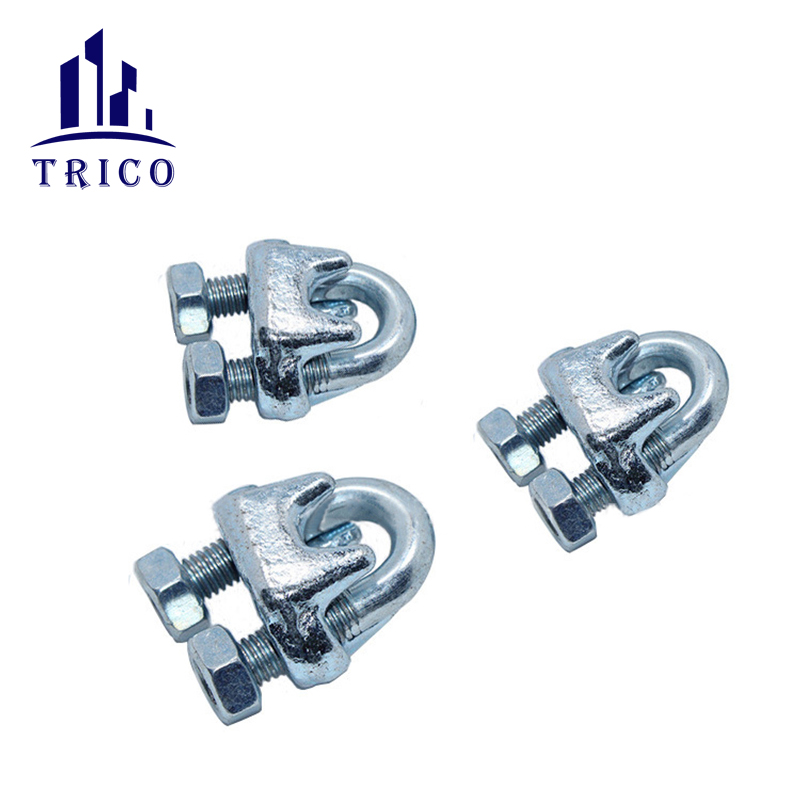 Adjustable Heavy Duty Carbon Steel U Clamp Galvanized US Type Drop Forged Wire Rope Clip