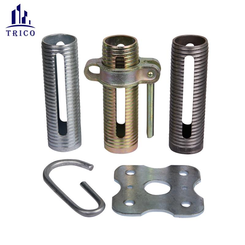 Formwork Steel Prop G Pin Base Plate Adjustable Steel Prop Sleeve