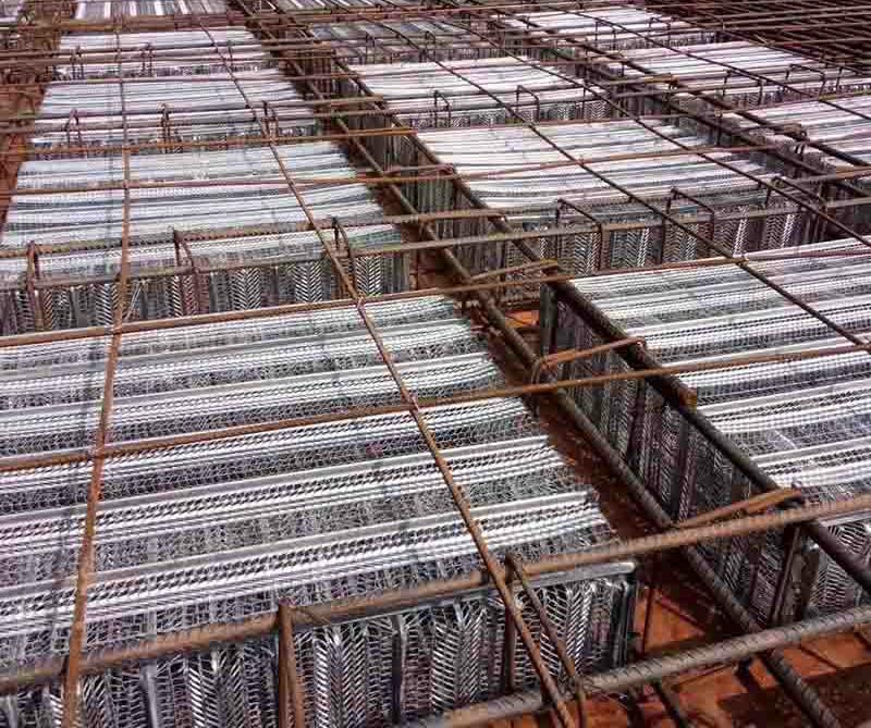 Construction Steel Mesh Flat Rib Galvanized Expanded Metal Lath