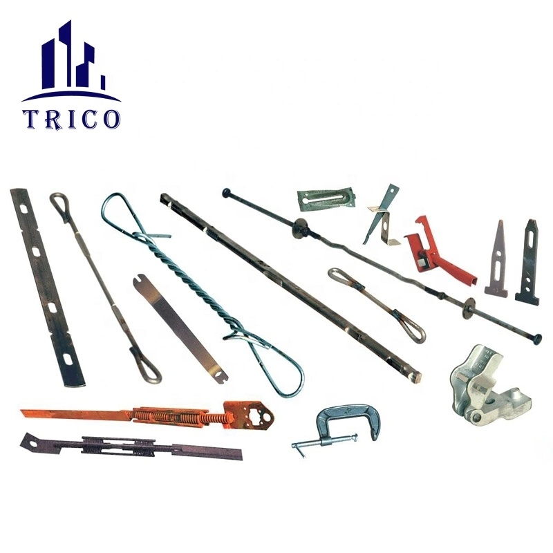 Steel Plywood Forming System Wall Tie X Flat Tie and Wedge Bolt