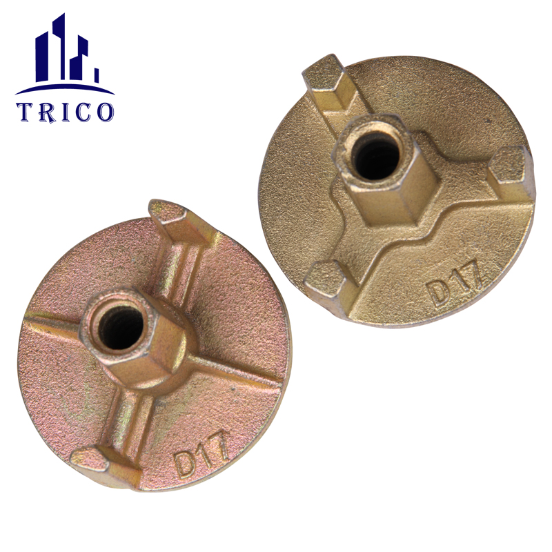 Concrete Formwork Galvanized Cast Iron Tie Nut Anchor Nut Wing Nut