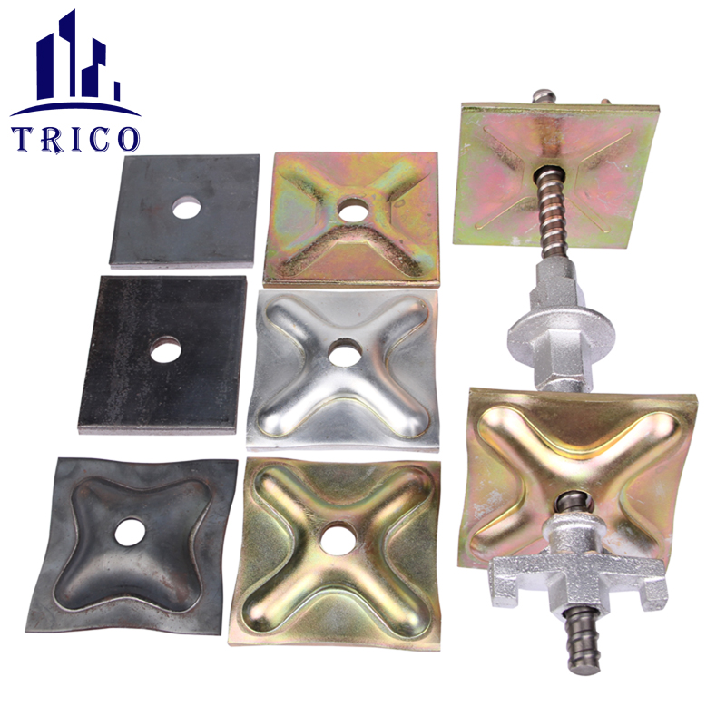 Form Tie Rod System Steel Tie Rod Wing Nut Waler Plate for Construction Formwork