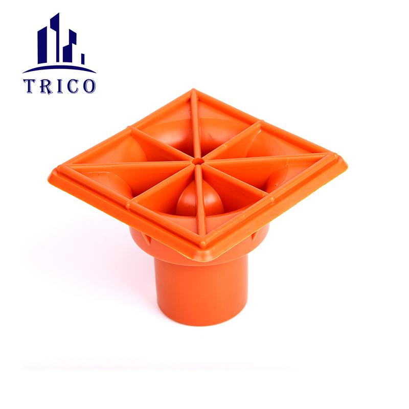 Building Material Plastic Square Rebar Safety End Cap