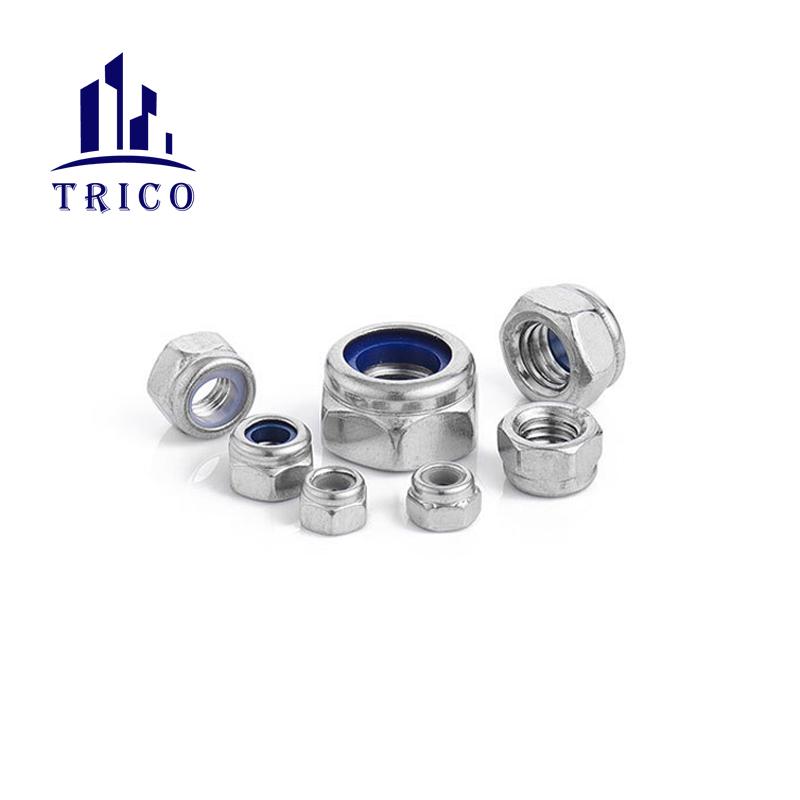 Steel Galvanized DIN 985 Nylon Insert Hex Locking Nuts Nylock Nuts