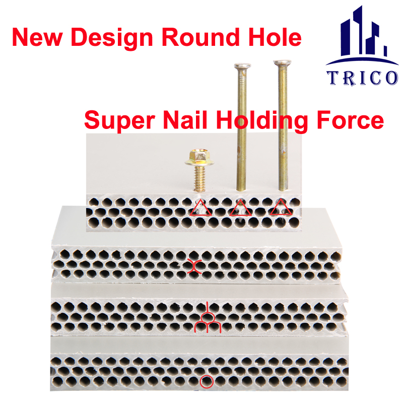 Concrete Formwork Plywood PVC PP Hollow New Type Roudn Hole Plastic Formwork Board