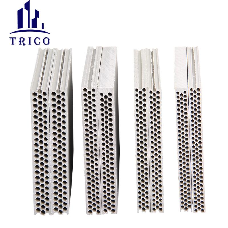 Concrete Molds Column Plastic PVC Formwork 4*8 Feet New Design Round Hole Plastic Formwork for Concrete Wall Building