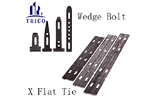 Steel Plywood Forming System X Flat Tie and Wedge Bolts for Steel Panel Fillers Lock