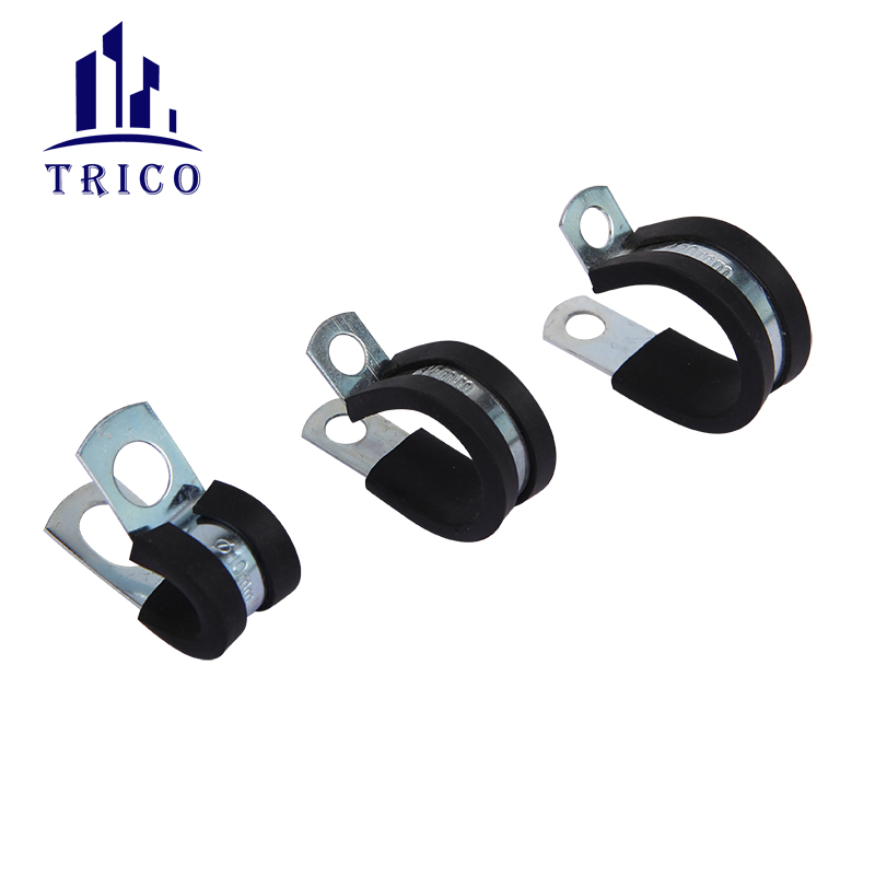 EPDM Rubber Cusioned P Lined Clip Fuel Tube Hose Clamp