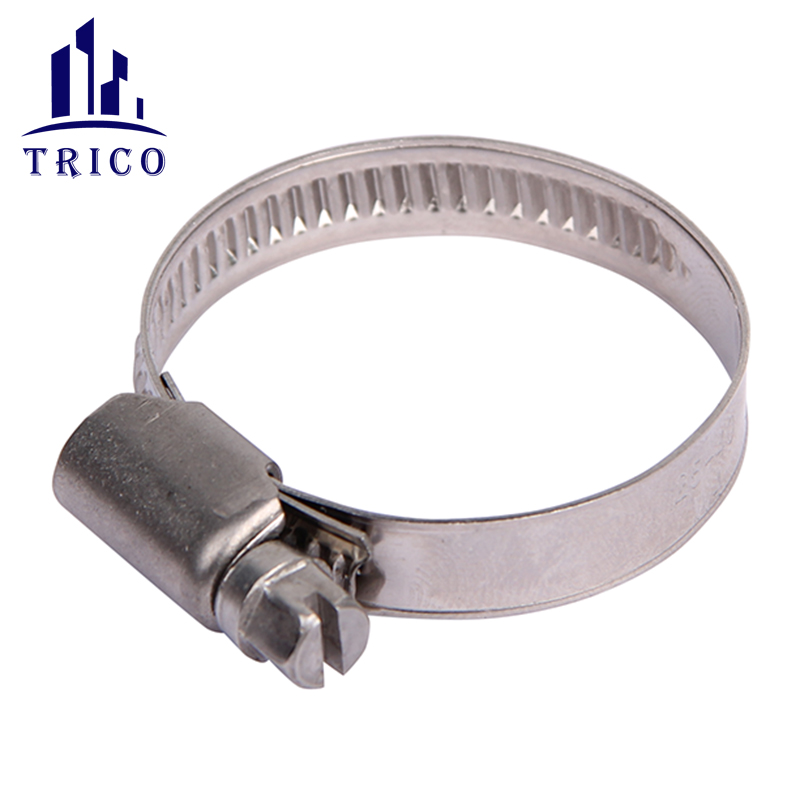 Durable steel galvanized German Type Worm Gear Gas Tube Connection Hose Clamps