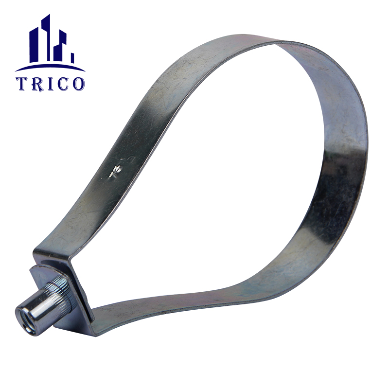 Carbon Steel Combined Nut Pear Shaped Loop Hanger Hose Clamp