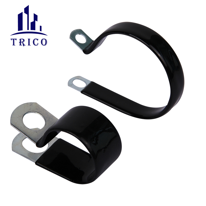 P Type PVC Coated Cable Clamp